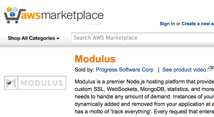 ModulusAWSMarketplace